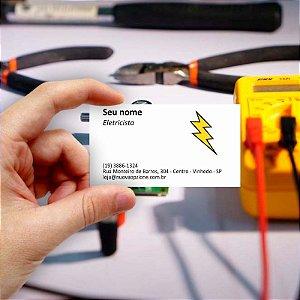 Cartão de visita para Eletricista 4 Econômico - 1000 unidades