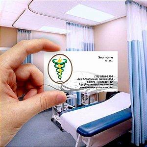 Cartão de visita para Fisioterapia 4 Econômico - 1000 unidades