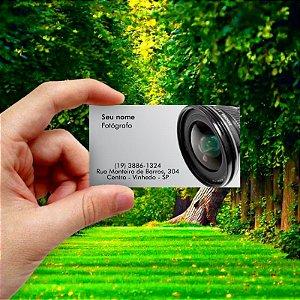 Cartão de visita para Fotógrafo 1 Econômico - 1000 unidades