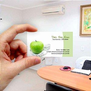 Cartão de visita para Nutricionista 1 Econômico - 1000 unidades