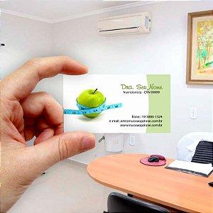 Cartão de visita para Nutricionista 2 Econômico - 1000 unidades