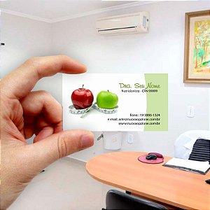 Cartão de visita para Nutricionista 3 Econômico - 1000 unidades