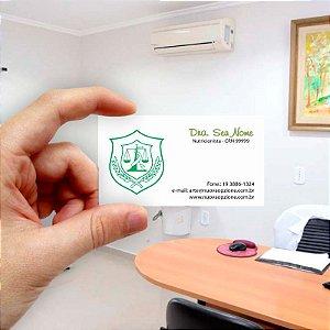 Cartão de visita para Nutricionista 4 Econômico - 1000 unidades