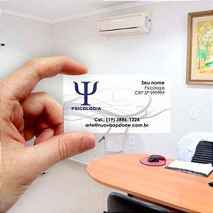 Cartão de visita para Psicologia 1 Econômico - 1000 unidades