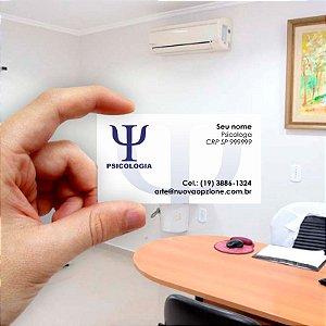 Cartão de visita para Psicologia 3 Econômico - 1000 unidades