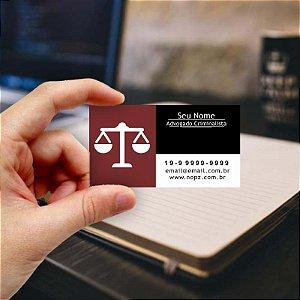 Cartão de visita para Advogado 5 - Econômico - 1000 unidades