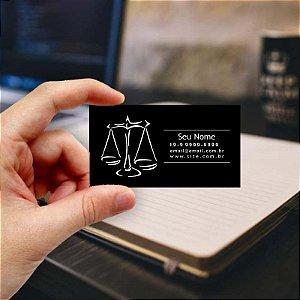 Cartão de visita para Advogado 8 - Econômico - 1000 unidades