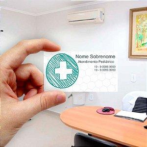Cartão de visita para Médico 8 Econômico - 1000 unidades