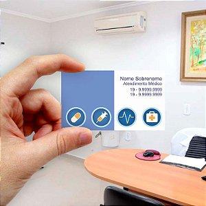 Cartão de visita para Médico 9 Econômico - 1000 unidades