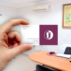 Cartão de visita para Dentista 5 - Econômico - 1000 unidades