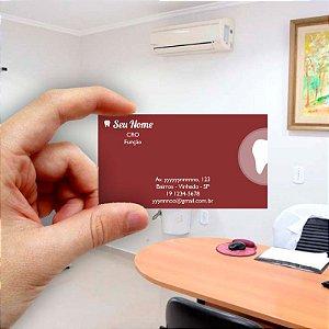 Cartão de visita para Dentista 8 - Econômico - 1000 unidades