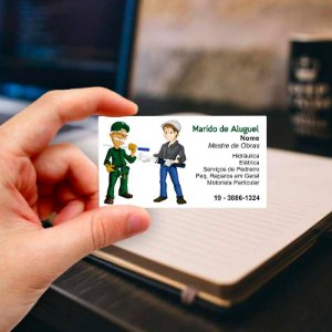 Cartão de visita para Eletricista 3 Profissional
