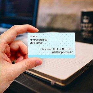 Cartão de visita para Fonoaudiologia 2 Profissional