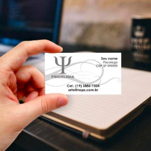 Cartão de visita para Psicologia 4 Profissional