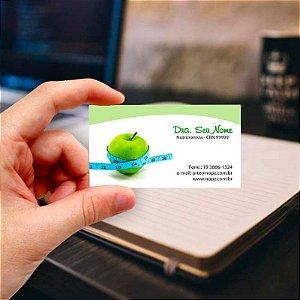 Cartão de visita para Nutricionista 16 Profissional
