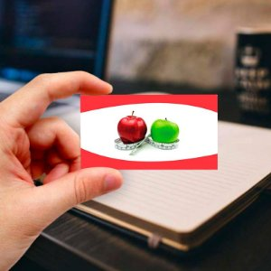 Cartão de visita para Nutricionista 18 Profissional
