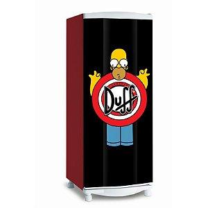 Adesivo de geladeira Duff
