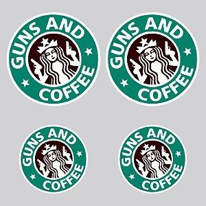 Kit Adesivos Guns and Coffee
