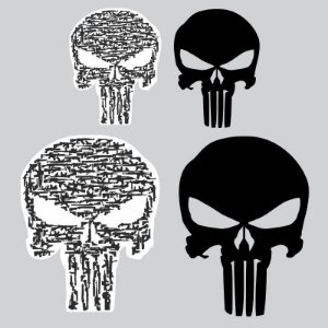 Kit Adesivos The Punisher - Justiceiro