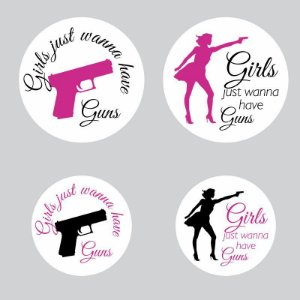 Kit Adesivos Girls just wanna have guns