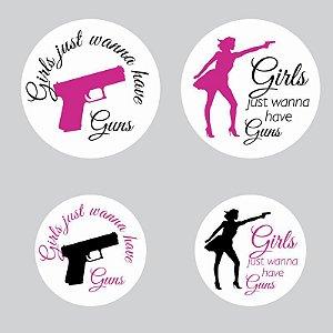 Kit Adesivos Girls just wanna have guns