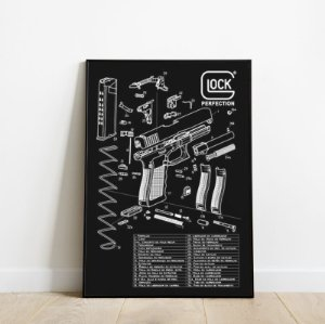 Placa decorativa Glock