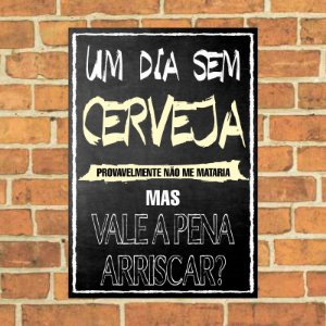 Placa decorativa Chalkboard
