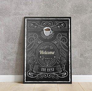Placa decorativa Welcome