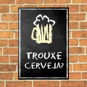 Placa decorativa Chalkboard