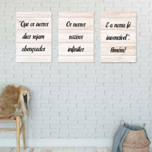 Placas decorativas Motivacionais