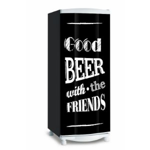 Adesivo de geladeira Good Beer