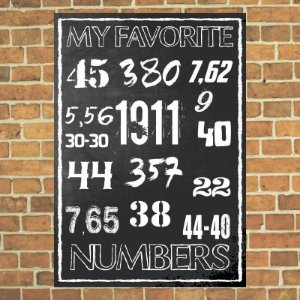 Placa decorativa My Favorite Numbers
