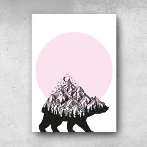 PLACA DECORATIVA MOTIVACIONAL THE NIGHT BEAR