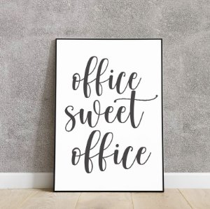 Placa decorativa office sweet office