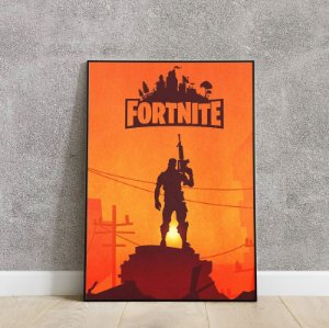 Placa decorativa fortnite