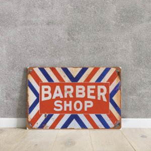 Placa decorativa barber shop