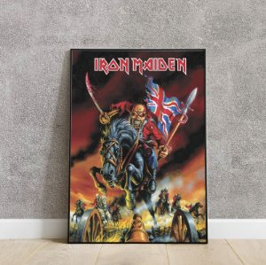 placa decorativa iron maiden