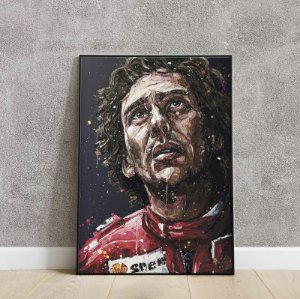 placa decorativa Ayrton Senna