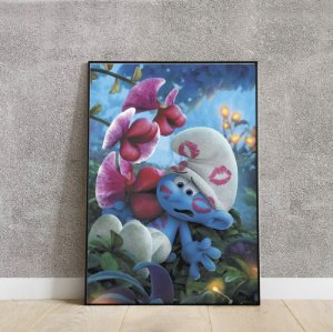 Placa decorativa smurf