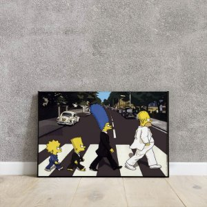 Placa decorativa Simpsons