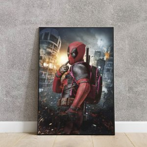 placa decorativa Deadpool