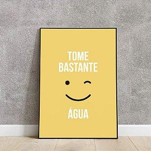 placa decorativa TOME BASTANTE ÁGUA
