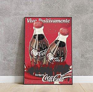 placa decorativa do Coca cola