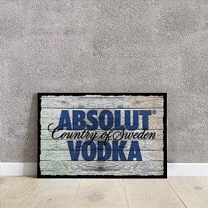 placa decorativa da ABSOLUT