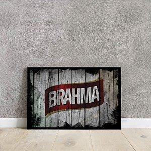placa decorativa da Brahma
