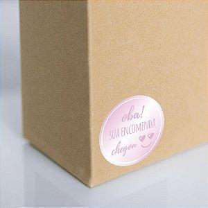 Adesivo para embalagem Rosa (250 unidades)