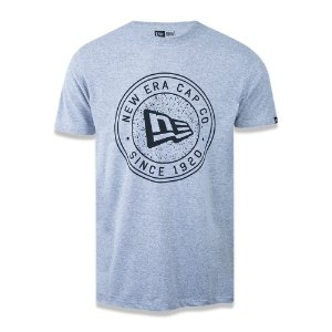 Camiseta New Era Essential Rounded Branded Cinza