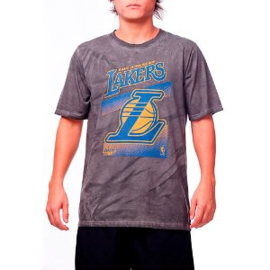 Camiseta NBA Los Angeles Larkers Marmorizada Grafite