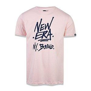 Camiseta New Era Essential Ny Buffalo Rosa