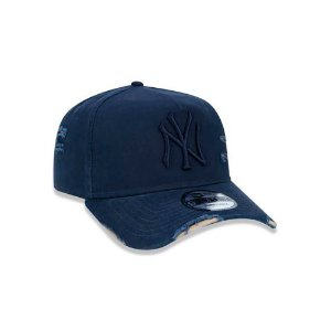 Boné New Era 940 MLB New York Yankees A-Frame Ajustable Destroyed Azul